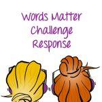 Words Matter Challenge Response